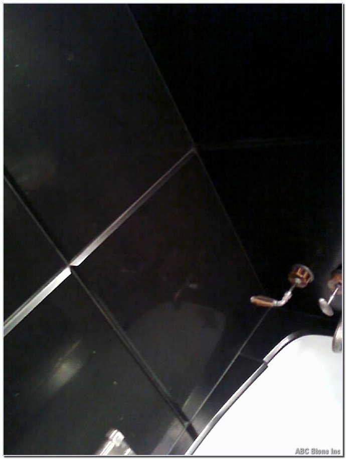 Black Slatestone Shower Wall. After