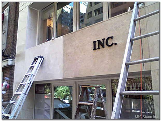 Marble Storefront Panels Restoration