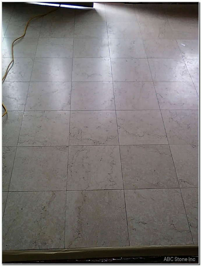 Entrance Marble Floor Before