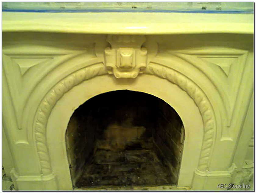 Cleaned Fireplace
