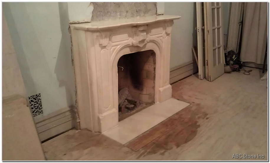 Marble Fireplace After