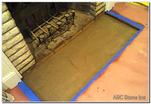 Fireplace Floor Slab. Sand Bed