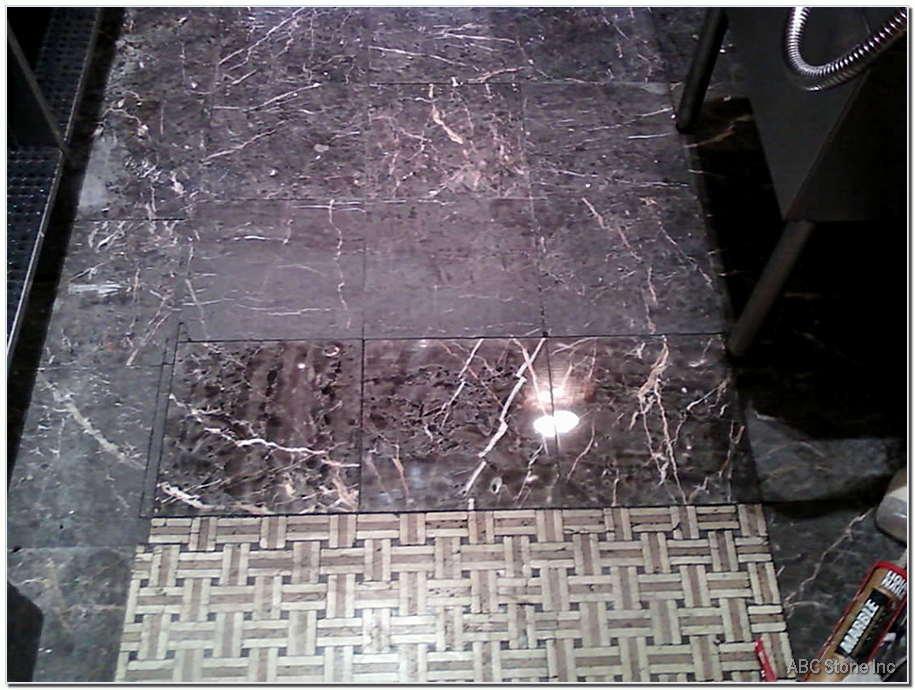 Installed Floor Tiles