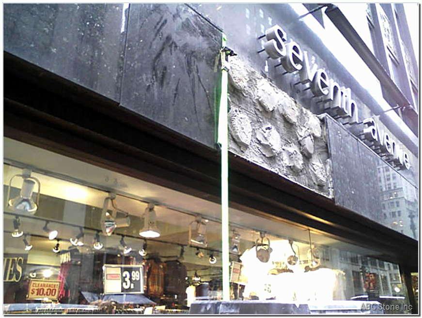 Granite Slab. Storefront