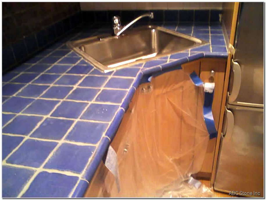 Tiled Countertop Re Grouting