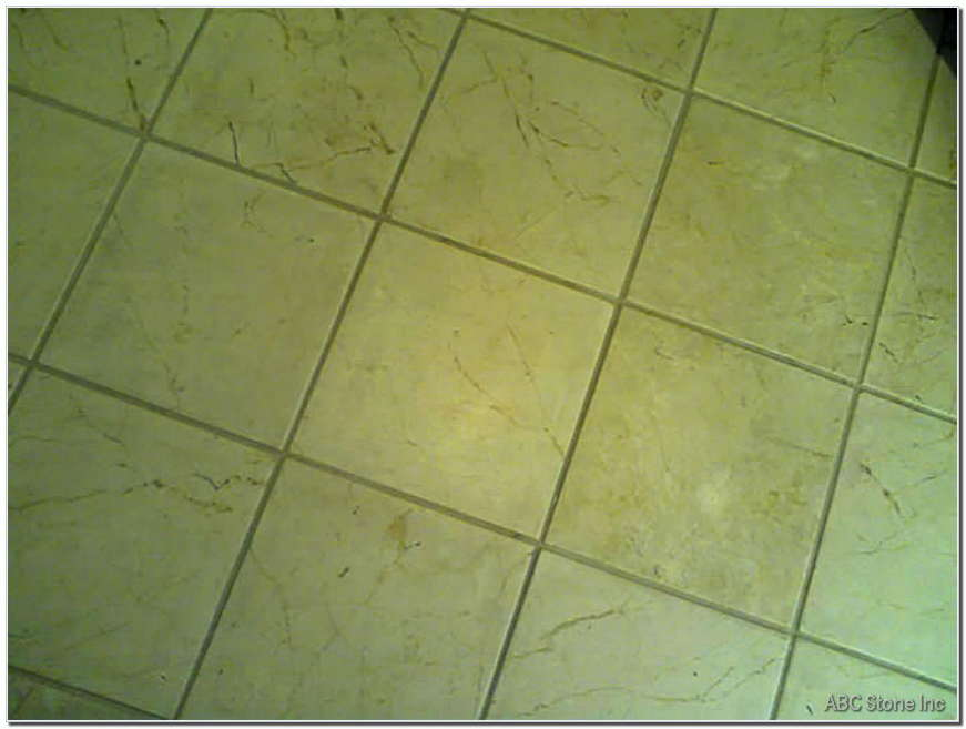 Marble Floor Before Cleaning