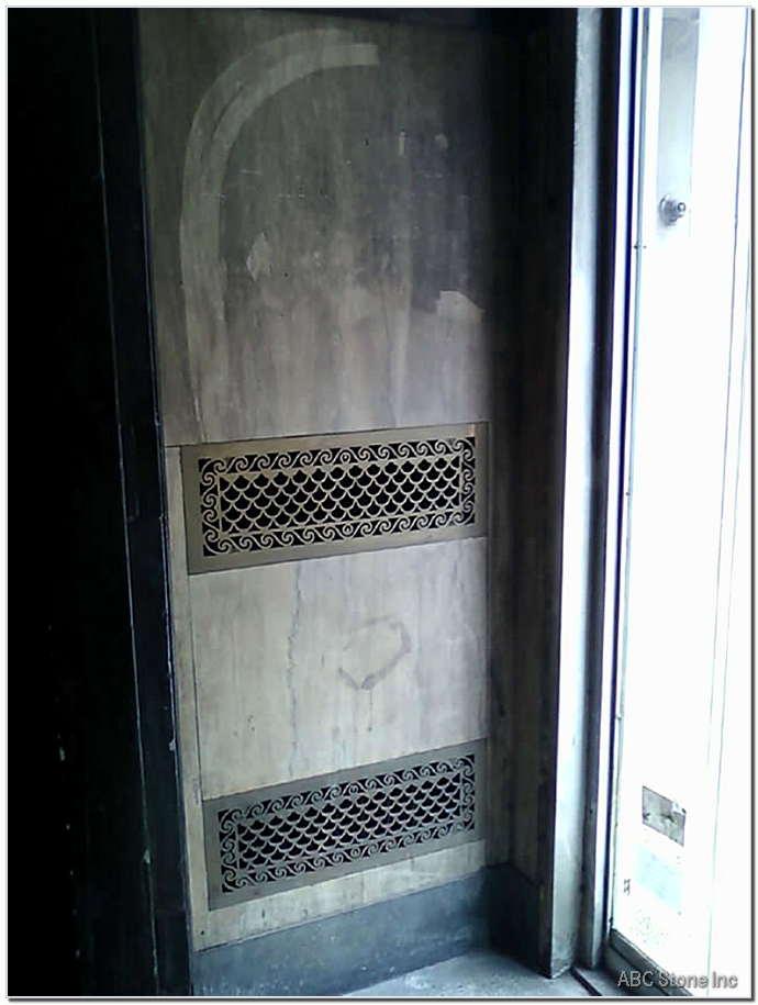 Dirty Vestibule Marble Walls