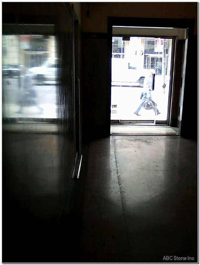 Lobby Terrazzo Floor. Before