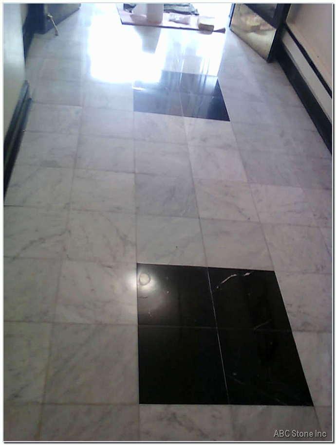 Marble Lobby Floor. After Polishing