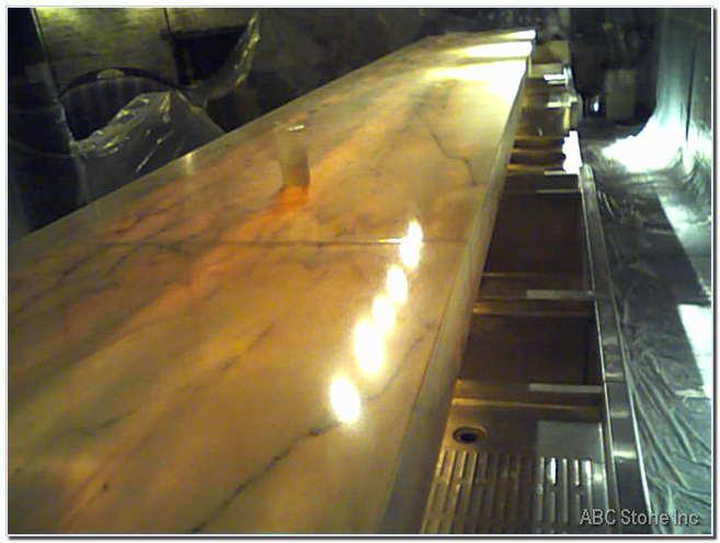 Rrestored Marble Bar Top