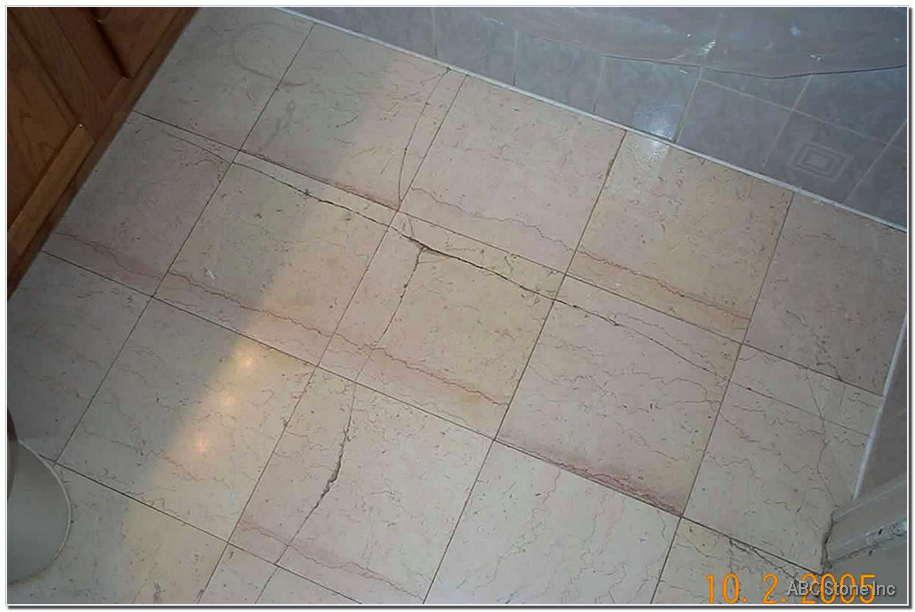 Marble Floor Crack Restoration