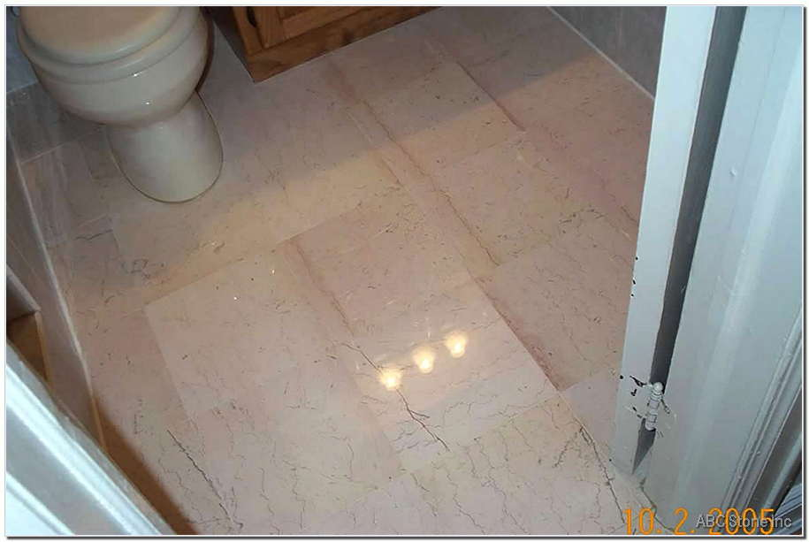 Marble Bathroom Floor Restoration