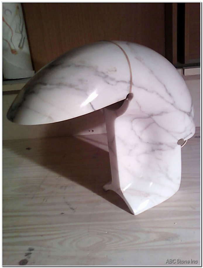 Marble Table Lamp. Fixed Cracks