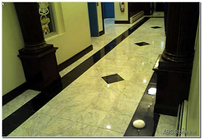 Marble Lobby Floor Restoration