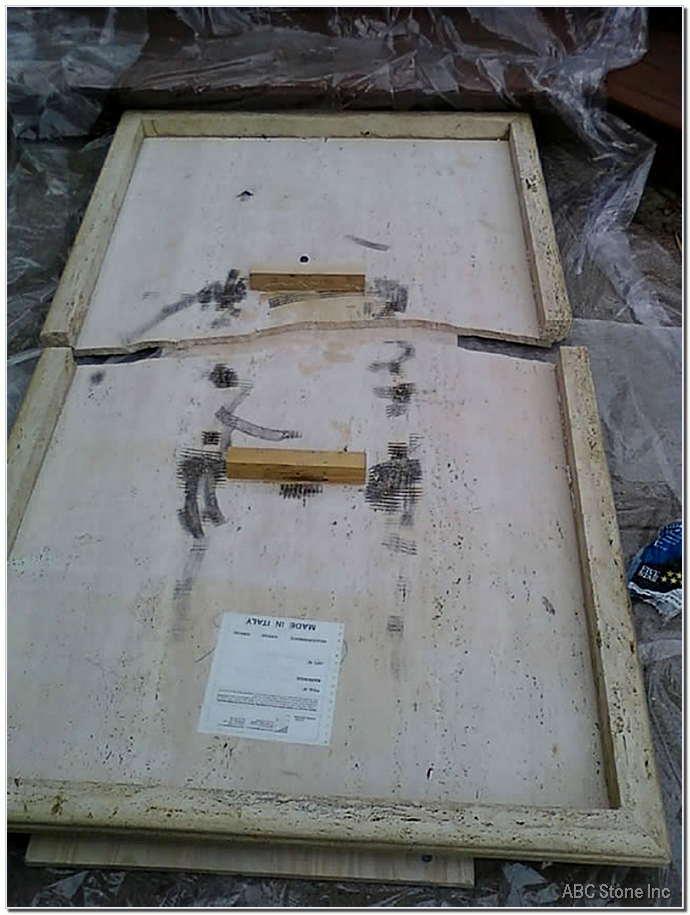 Broken Travertine Tabletop