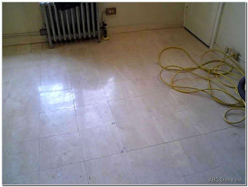 Tiled Floor Before Restoration