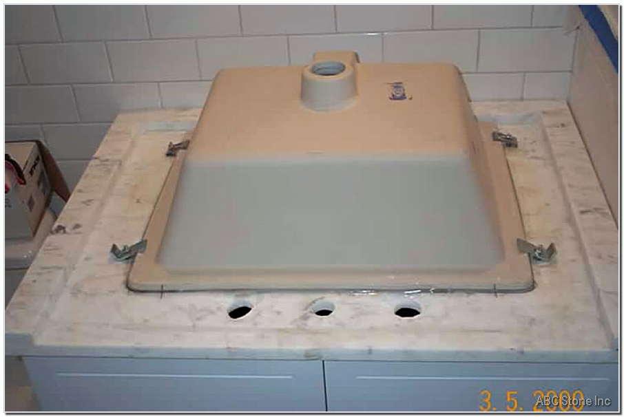Marble Vanity Sink Mounting