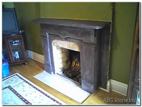 Slate Marble Fireplace Before