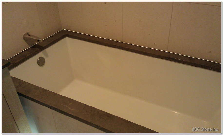 Polished Marble Tub Top