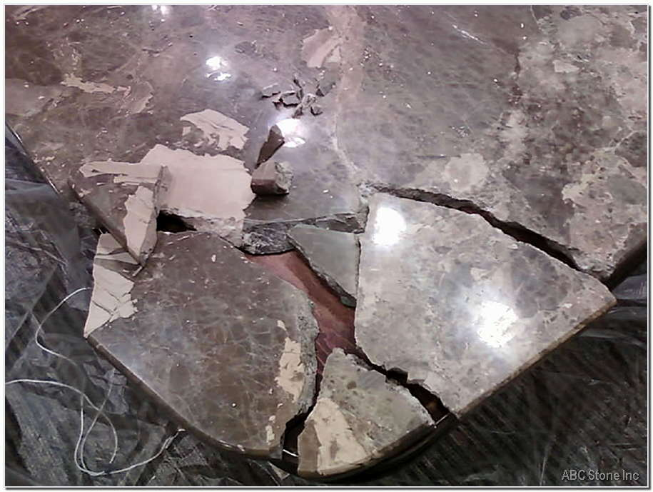 Cracked Marble Tabletop