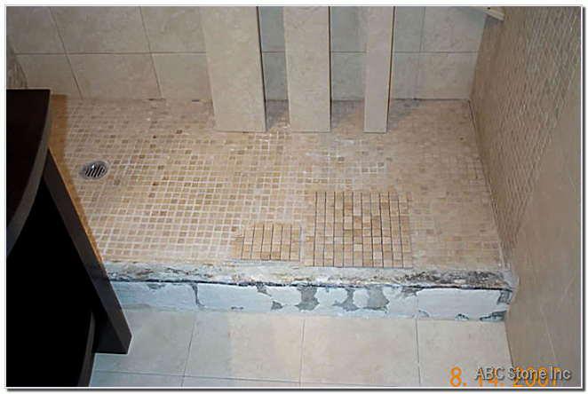Shower Floor Saddle Restoration