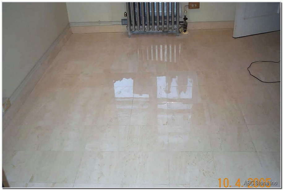 Tiled Marble Floor. After